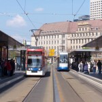 Straßenbahnen am Hauptbahnhof